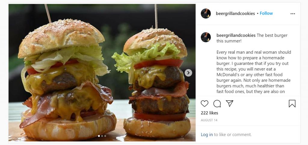 Zmagovalec #mojBosch goveji burger v dveh velikostih – odrasli in otroški